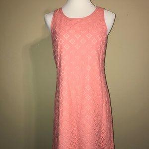 Sleeveless Coral Lace Dress
